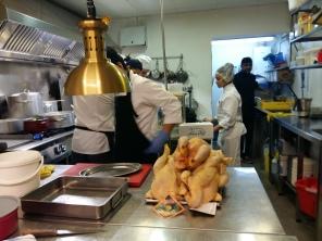 Carolin, pràctiques d'ajudant de cuina al Restaurant Sergi de Meià